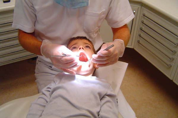 dentist: young child at the dentist