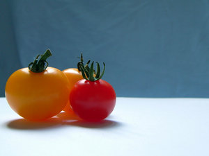 Cherry Tomato: This was another shot of some tomatos from a local garden. these were the mini-sized ones.