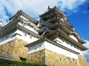Himeji Castle (White Heron Cas: It was registered as one of the first Japanese World Heritage Sites by UNESCO and it is one of Japan's