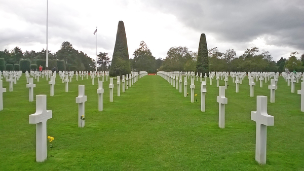 Silent whitnesses: American Military Cemetry at Colleville-sur-Mer, Normandy, France