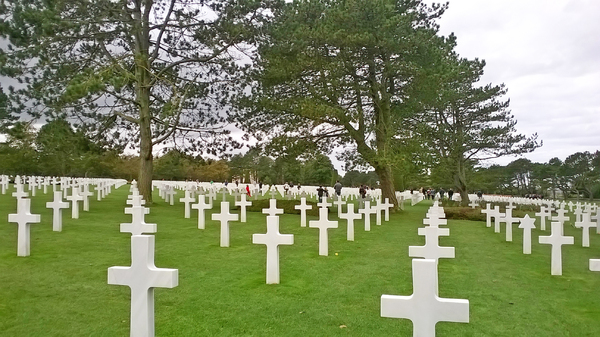 They died for freedom: American Military Cemetry at Colleville-sur-Mer, Normandy, France