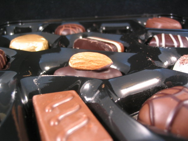 thorntons: box of chocolates from thorntons..