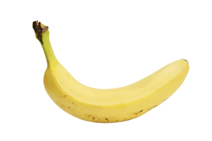 Banana: Side view without shadows.