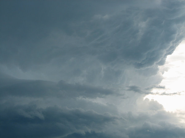 Cloud Formation: A neat shot of some cloud formations in a approaching storm.