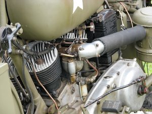 How they used to be made: WW2 Motorcycle engine