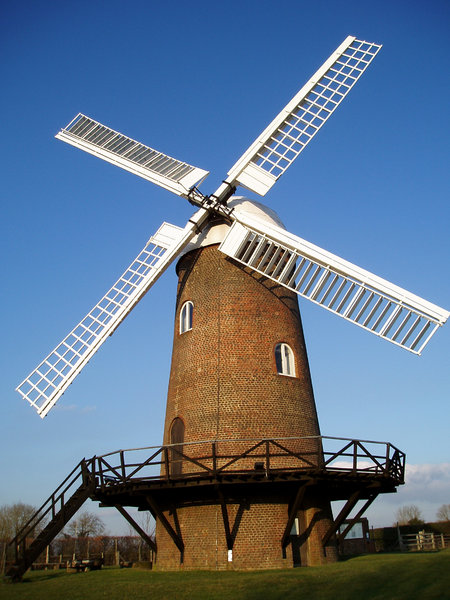 Windy: The last complete surviving windmill in Wiltshire, U.K.