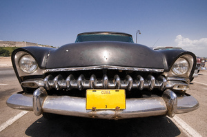 Classic car in Cuba: Nice classic car, photographed with a wide-angle lens