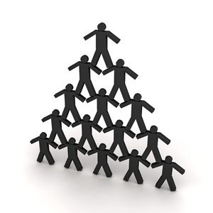 Person: pyramid: An abstract picture of persons in a pyramid formation. Can be used to illustrate strength, teamwork, ...