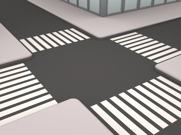 Crossing Streets: An abstract picture of 2 crossing streets in a city landscape