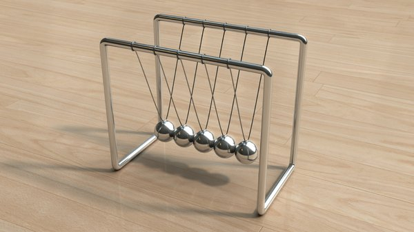 Newton's Cradle 2: A new version of my Newton's Cradle, this time, better quality and better floor texture.