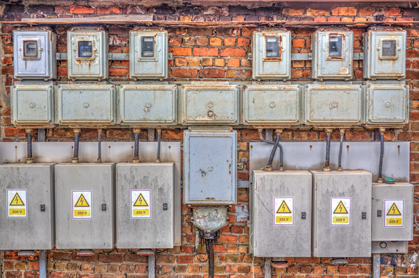 Old electric cabinets: A high dynamic range picture of old electric cabinets