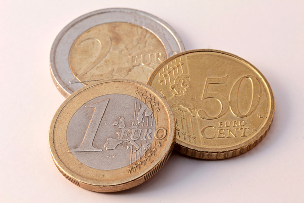 Euro money pieces: A picture of Euro money. This picture can be used for a wide variety of subjects.