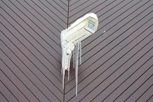 Big Brother is shivering 1: CCTV camera covered in ice