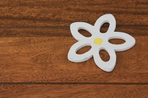 Flower heat mat on table: Flower heat mat on table