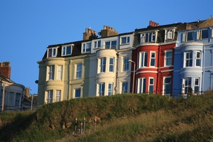 Cliff top hotel: Hotels at the top of cliffs overlooking Scarborough Bay