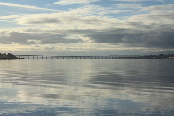 Tay Bridges from Broughty Ferr: View of the Tay bridges from Broughty Ferry