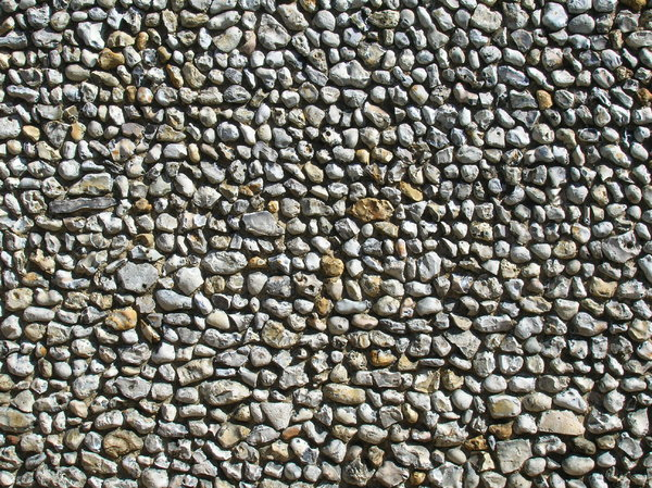 Pebble Dash Wall: Abstract based on a pebble dash wall of Norfolk flints
