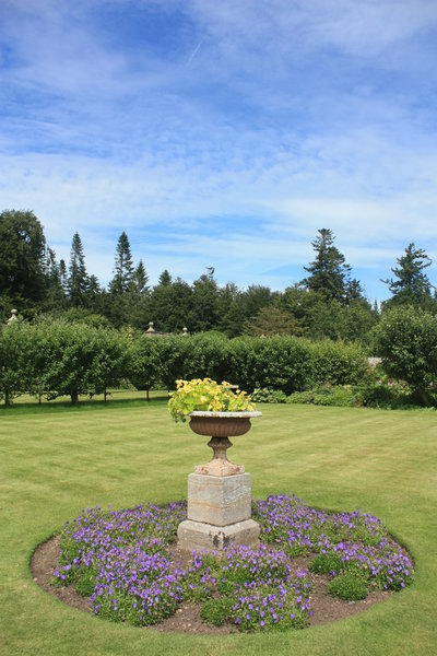Country House Garden: View of the formal garden of a country house