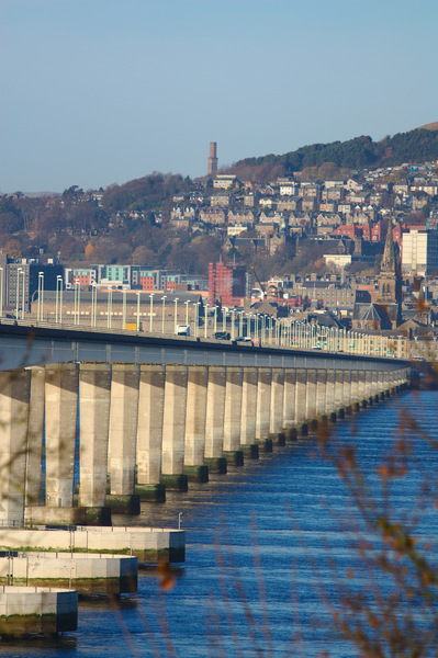 Tay Road Bridge: View of the Tay Road Bridge looking towards Dundee