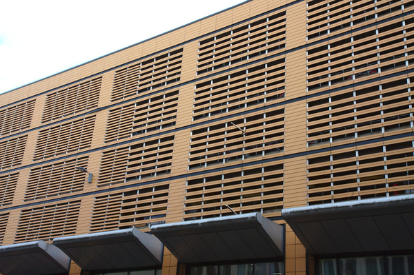Car park cladding: Cladding facade on a recently built city-centre car park