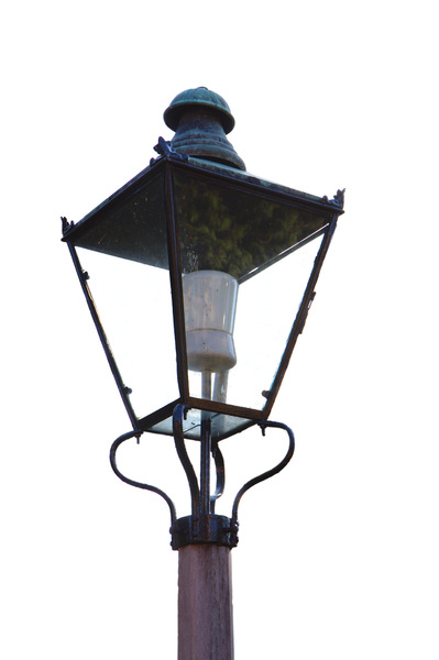 Outside light: Exterior light from a domestic garden, like a mini-street light