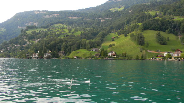 Lake Lucerne: Some shots of Lake Lucerne, on Swiss National Day, 2010.