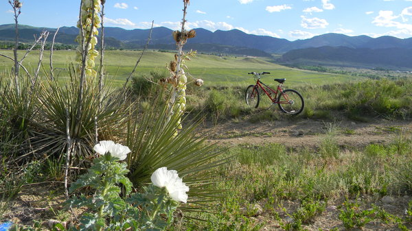 My bike: My bike in my favorite park here in Colorado. It's a great park, lots of varied terrain that can challenge any level of cyclist.