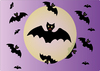 Halloween bats and moon: Halloween bats and moon