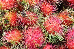 Asian fruit: Asian fruit texture