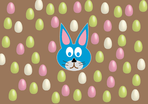 rabbit and eggs 3: Easter rabbit and eggs