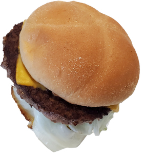 Cheese hamburger: A simple cheese burger isolated