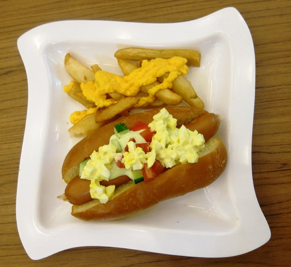 hotdog and fries: hotdog and fries