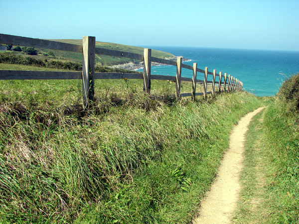 The Path to Crantock: The coastal path to Crantock Beach from West Pentire, Newquay, Cornwall