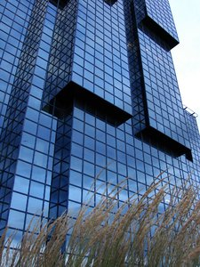 blue reflection: modern building