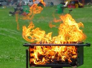 Fire: lighting the barbecue