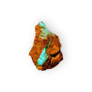 Turquoise with rock (2): Turquoise with rock (Aluminum Copper Phosphate)  Location;Mineral Park, Mohave County, Arizona.