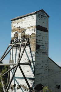 Mining 1: Old Headframe Yellowknife, NWT Canada