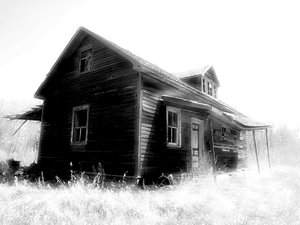 Old Black and White Homesteads: old Saskatchewan homestead located 35 minutes north of Saskatoon., Saskatchewan, Canada