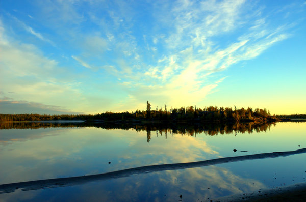 Yellowknife landscape 1: Here are some morning 6am morning shots in August