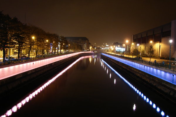 By night : Charleroi, Belgium: Le canal Bruxelles-Charleroi, de nuit. RATE THIS PIC IF YA DOWNLOAD IT, THANKS !