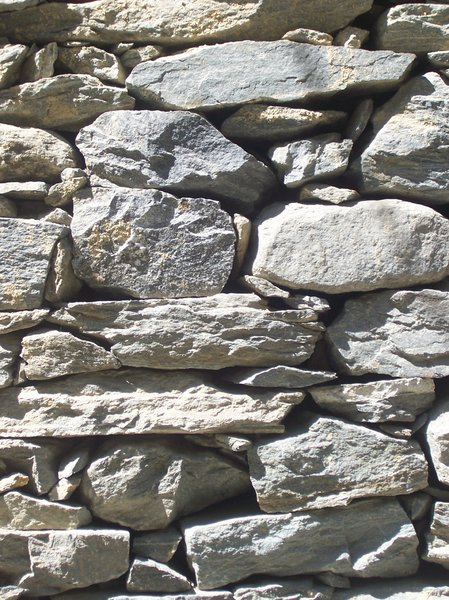 STONE WALL: a wall made by stones