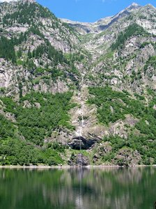mountain lake: lake in Vallantrona, Northern Italy