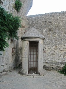 medieval sentry box: Medieval sentry box, near the ancient necropolis of Populonia.