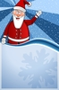 Christmas Poster 01: Christmas blue Poster with Santa Claus