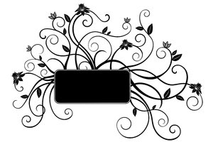 Isolated B&W Floral Set 8: Package of black and white isolated objects (florals), containing  flowers, trees, leaves, etc.