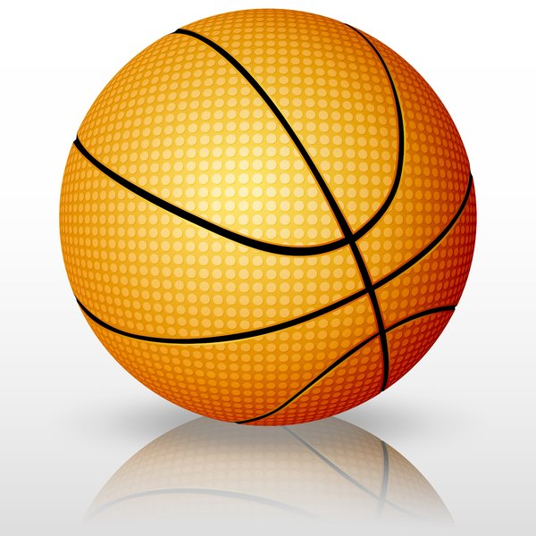 Vector Basketball: Basketball on a white background