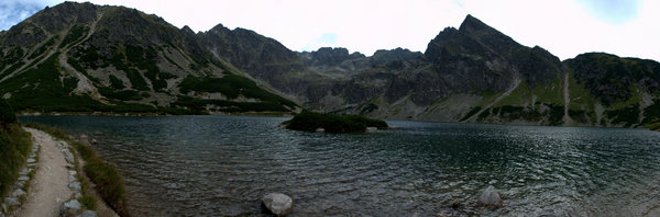 Black Pond: Black Pond in Tatra Mountains