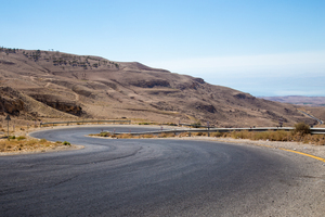 Winding Road: Twisting road heading down to the Dead Sea