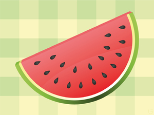 Melon Slice: A slice of a melon. Made it myself. Made in vector