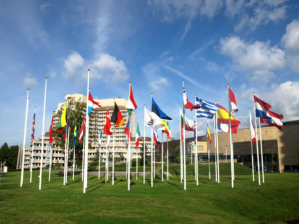flags: front off pentant agency, Rijswijk The Netherlands